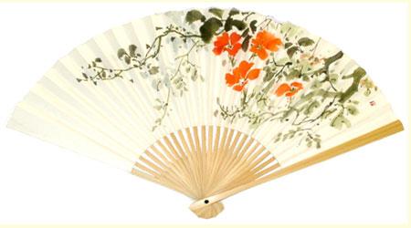 作品例1 サイズ:6寸5分(縦19.5cm)25本骨 白竹 画仙紙使用